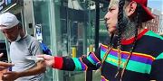Tekashi 6ix9ine Dangerously Handing Out FREE Copies Of His Album On Streets Of New York