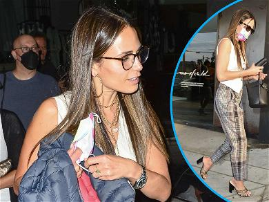 Jordana Brewster's Outfit: No Such Thing As Plaid Publicity Ahead Of 'F9' Premiere