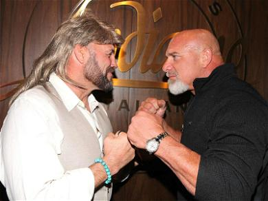 Goldberg Faces Off With Randy Couture During Las Vegas Halloween Bash