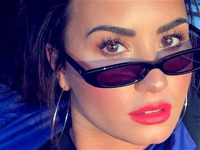 Demi Lovato Gives Bulimia The Middle Finger In Glitter Swimsuit