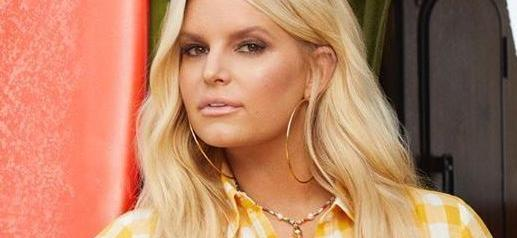 Jessica Simpson Unbuttoned For Skintight Cowgirl Surprise
