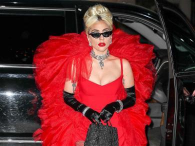 Lady Gaga Is Ra Ra Really Red