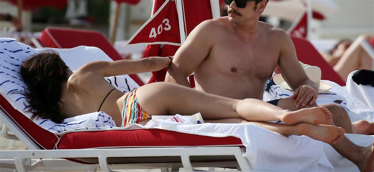James Franco, His Mustache and His Hot Girlfriend Went to the Beach