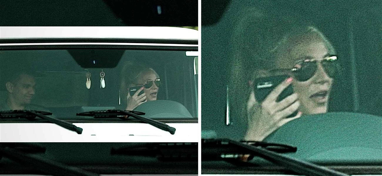 Britney Spears Seen Driving Around While Using Her Cellphone