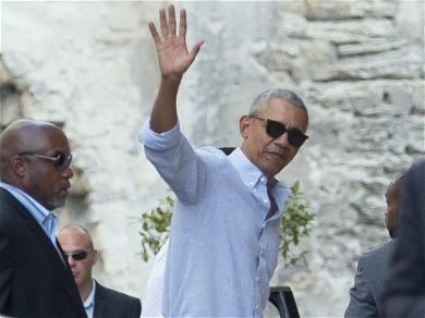 Barack Obama Spent Father's Day in France With His Daughters