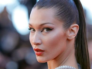 Braless Bella Hadid Goes Transparent With Flowers Between Her Legs From Cobbled Farmhouse