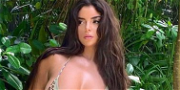 Demi Rose Bust Bounces In Bra For Tropical Workout