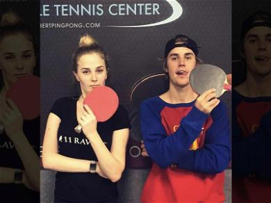 Justin Bieber Serves It Up With Ukranian Ping Pong Master