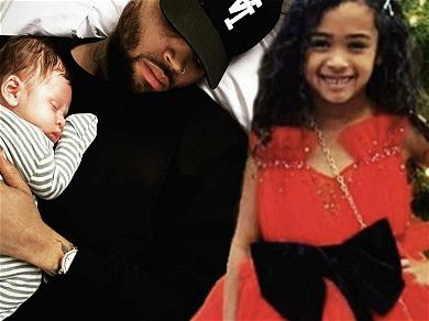Chris Brown Shares First Snaps Of Daughter Royalty With His Newborn Son