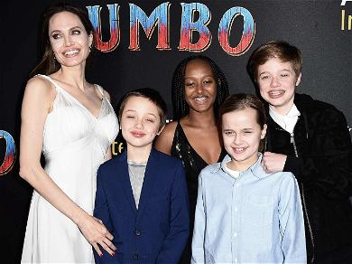 Angelina Jolie Trots Out Her Young Brood for 'Dumbo' Premiere