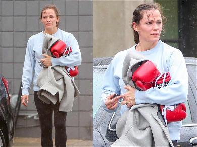 Jennifer Garner Delivers a Sweaty Beatdown on Valentine's Day