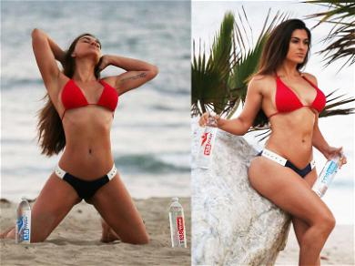 Lorenzo Lamas' Hot Estranged Wife Grabs Water Bottles for Thirsty Photoshoot