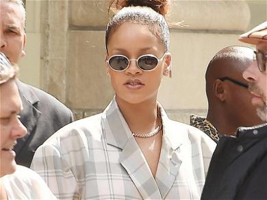 Rihanna Gets Heavy-Duty Delivery