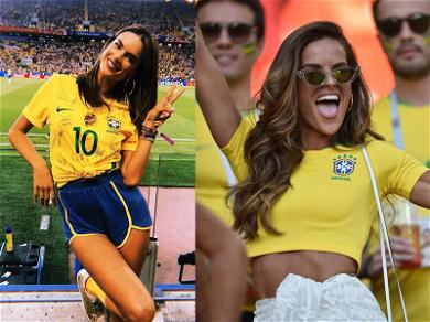 Alessandra Ambrosio & Izabel Goulart: Brazil's Good Luck Charms at World Cup