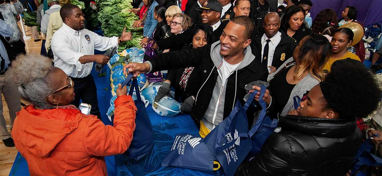 T.I. Delivers Thanksgiving Meals to Senior Citizens in His Neighborhood