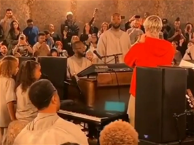 Justin Bieber STUNS Crowd By Singing At Kanye West's Sunday Service — See The Video!