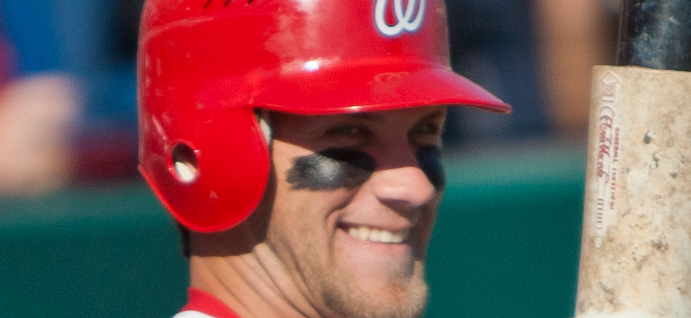 Bryce Harper Gets Hit In The Face By 97 MPH Fastball