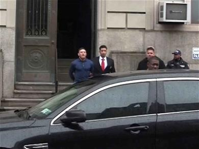 Conor McGregor Perp Walked in Handcuffs Outside NYPD Station