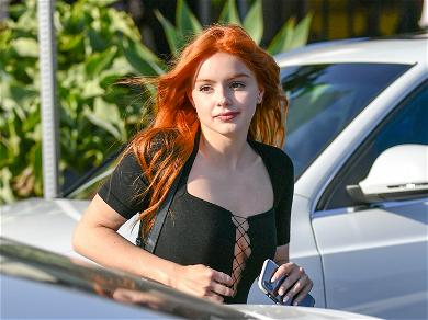 Ariel Winter Looks Drop-Dead Gorgeous In Hoodie Dress With Zero Makeup On L.A. Streets