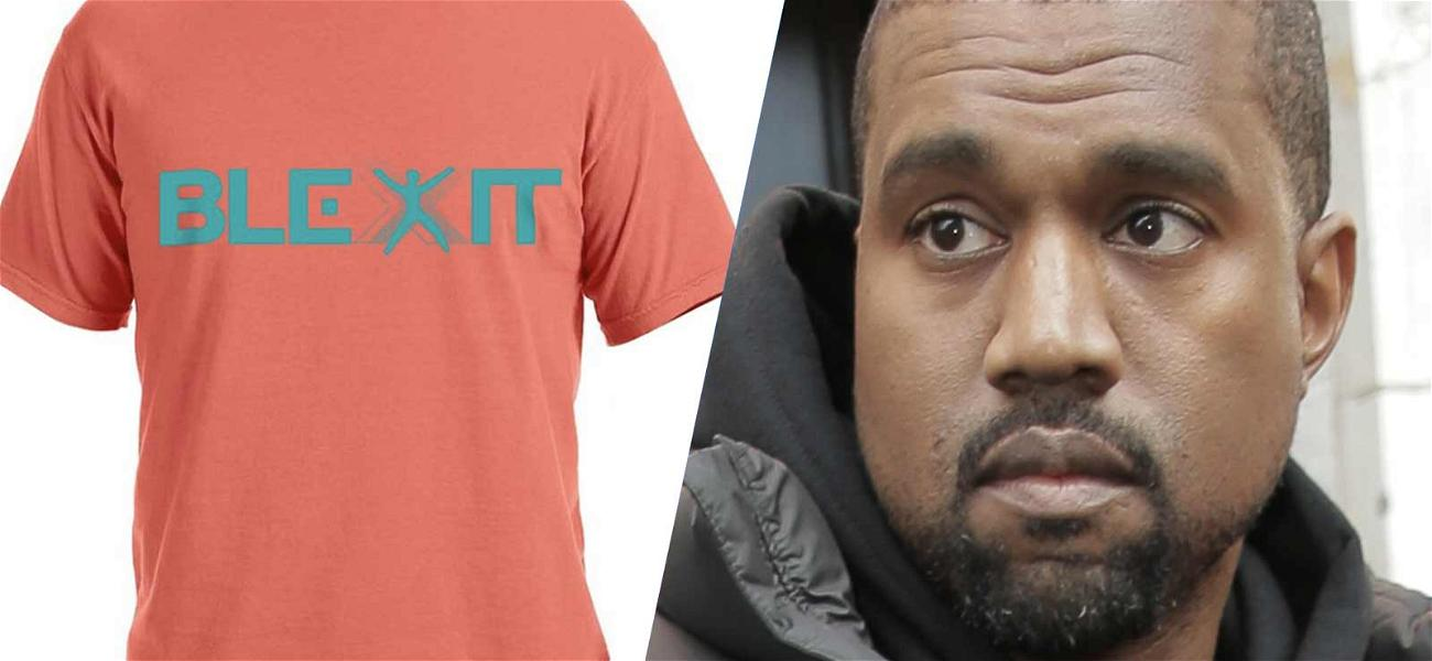Kanye West Designs 'BLEXIT' Gear for Conservative Pal