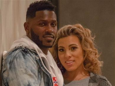 Antonio Brown All Smiles With Baby Mama Chelsie Kyriss After Getting Engaged
