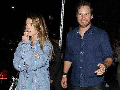 Chris Pratt and Katherine Schwarzenegger are a Denim Duo