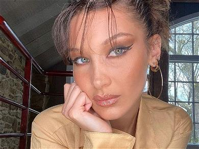 Bella Hadid Sparks Weight Worries With Braless Shirt Lift