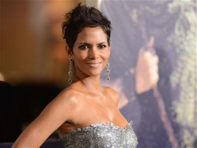 Halle Berry Stretches In Bra &  Tight Yoga Pants With Her 'Spirit Animal'