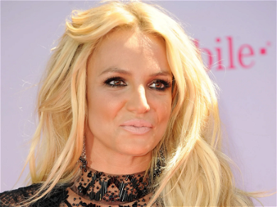 Britney Spears Tugs Down Shorts to Twirl Around Living Room