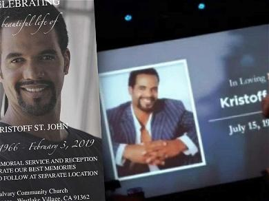 Kristoff St. John Laid to Rest Next to Son, Beloved Dog Attends Funeral Services