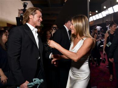 Brad Pitt And Jennifer Aniston's Backstage Reunion At The SAG Awards Has Everyone Talking