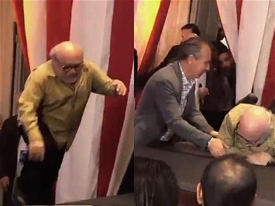 Danny DeVito Goes Down HARD in Mexico While Promoting 'Dumbo'