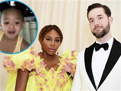 Serena Williams Shares Adorable Video Of Daughter Waking Up Daddy