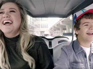 Kelly Clarkson Does a Little Duet with 'Stranger Things' Star Gaten Matarazzo and It's Adorable as All Hell