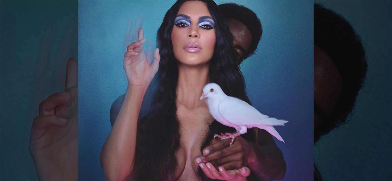 Kim Kardashian Slaps on Blue Eye Shadow After Calling Sisters 'F***ing Clowns'
