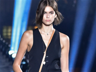Kaia Gerber Stuns In Braless Versace Mini Dress That Barely Covers Her