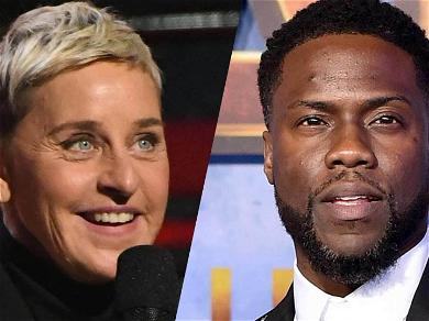 Kevin Hart Ripped For Defending Ellen Again, Fans Ask Why He's Ignoring Her Talk Show Staff's Allegations