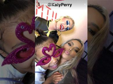 Kim Kardashian and North West Get the VIP Treatment at Katy Perry Concert