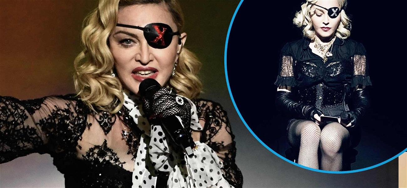 Madonna 'Burst Into Tears' After Falling Off Chair During Paris Show