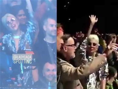 Lady Gaga Celebrates History-Making Oscar Nods By Rocking Out at Elton John Concert
