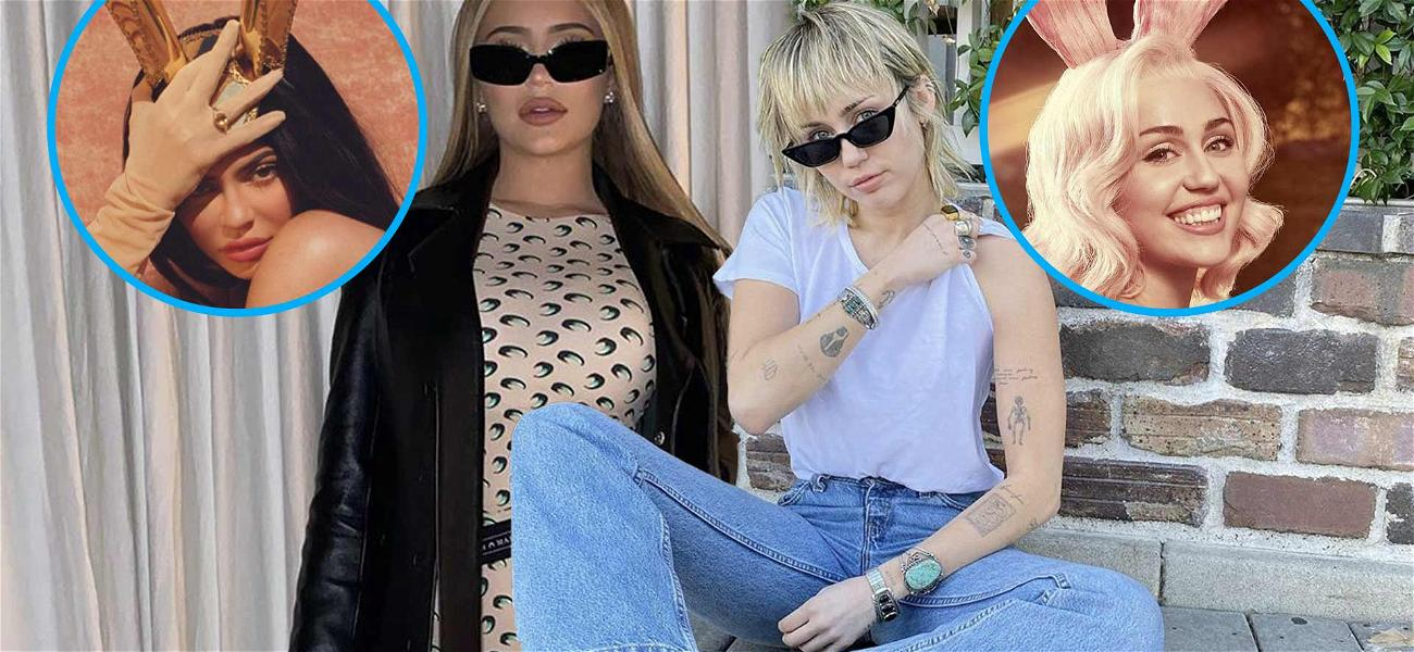 Kylie Jenner & Miley Cyrus Were The Hottest Easter Bunnies This Year!