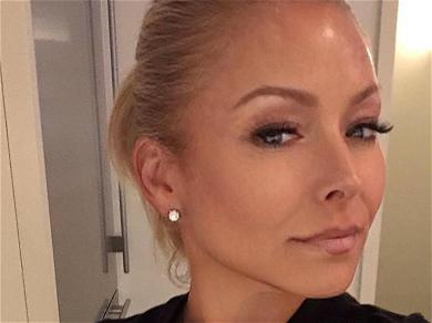 Kelly Ripa Struggles In Tight Zip Dress With Rear View