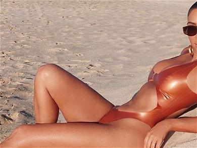 Kim Kardashian Sets Instagram On Fire In Wild LATEX Monokini