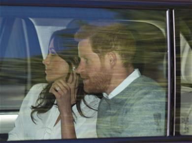 Meghan Markle and Prince Harry Arrive For Royal Wedding Rehearsal