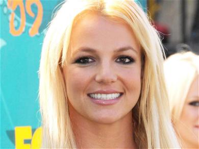 Britney Spears Arches Back In Stringy Bikini Straddle