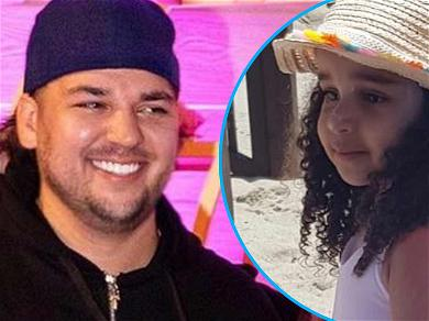 Rob Kardashian Shares Too Cute Pic Of Daughter Dream During Fun Filled Beach Day