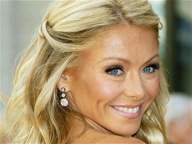 Kelly Ripa Accidentally Works Out In Figure-Hugging Dress & Stilettos