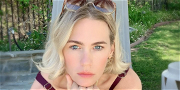 January Jones Shows Off Her Gorgeous 'Roaring 20s' Dress With Christmas Tree Boomerang