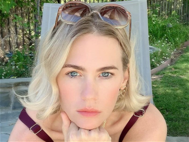 January Jones Forgets Shirt In Selfie, Asks If She Has To Wear A Top To Target