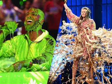 Danica Patrick Gets Gold Slime at the 2018 Nickelodeon Kids' Choice Sports Awards